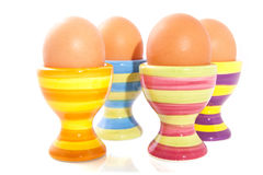 Striped eggcups Royalty Free Stock Photo