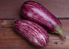 Striped eggplant Stock Photo