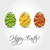 Striped eggs Royalty Free Stock Images