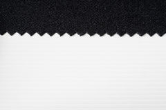 Striped embossed paper and fabric. White and black background. Royalty Free Stock Images