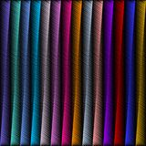 Striped Embroidery 3d Geometric Seamless Pattern. Vector Abstrac Royalty Free Stock Photo