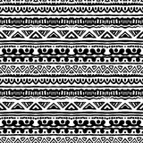 Striped ethnic pattern in black and white Royalty Free Stock Image
