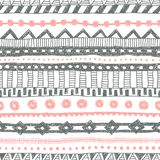 Striped ethnic pattern painted in pencil. Vintage striped print. Vector vector illustration