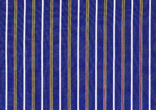 Striped fabric. With blue and white stripes stock photo