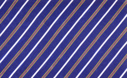 Striped fabric. With blue and white stripes royalty free stock images