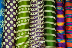 Striped fabric display Stock Photography