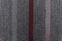 Striped fabric. Gray striped fabric close up Stock Photos