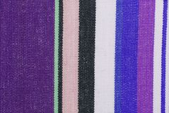 Striped fabric texture. Closeup of the striped fabric texture Stock Image