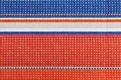 Striped fabric texture Stock Photos