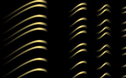 Striped fabric, vector. Folded fabric with yellow stripes royalty free illustration