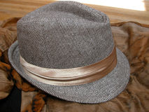 Striped Fedora Royalty Free Stock Photos