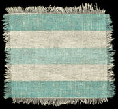 Striped flap burlap texture, piece of natural Royalty Free Stock Photos