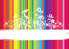 Striped floral Royalty Free Stock Images