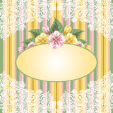 Striped floral background Royalty Free Stock Images