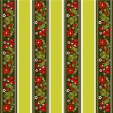 Striped floral pattern Royalty Free Stock Photo