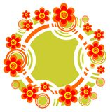 Striped flower border Royalty Free Stock Photography