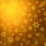 Striped flowers in brown old paper background Royalty Free Stock Images