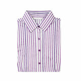 Striped  folded shirt isolated on white background Royalty Free Stock Photo