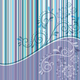 Striped frame with curls Stock Images