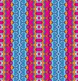 Striped geometric ethnic seamless pattern Royalty Free Stock Image