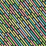 Striped geometric pattern black background vector vintage design with colorful dashed lines Royalty Free Stock Photos