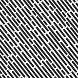 Striped geometric pattern white background vector vintage design with black dashed lines Royalty Free Stock Image