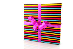 Striped gift Royalty Free Stock Photography