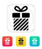 Striped gift box icons on white background. Royalty Free Stock Image