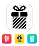 Striped gift box icons on white background. Vector illustration stock illustration