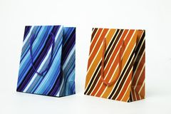 Striped Gift Packaging Royalty Free Stock Photos