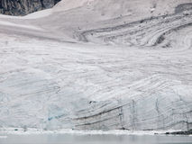 Striped glacier close up Royalty Free Stock Images