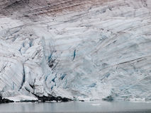 Striped glacier close up Stock Photography