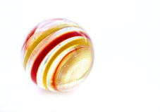 Striped glass marble Stock Photos