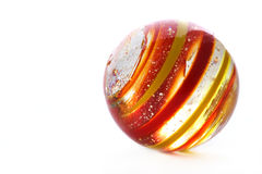 Striped glass marble Stock Photography