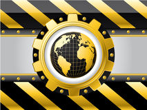 Striped globe background Royalty Free Stock Photography