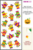 Striped gloves visual puzzle Stock Photo
