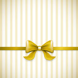 Striped gold bow Stock Images