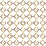 Golden rhombuses pattern isolated on white background Royalty Free Stock Photography