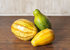 Striped Gourds stock photo
