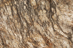 Striped grangy granite stone surface Royalty Free Stock Photography