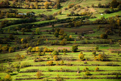Striped, grassy hills Royalty Free Stock Photography