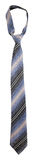 Striped gray tie Stock Image