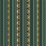 Striped greek 3d vector seamless pattern. Modern background. Striped greek 3d vector seamless pattern. Green gold ornamental abstract geometric background royalty free illustration