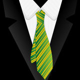 Striped green tie Royalty Free Stock Photography
