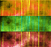 Striped grunge banner set Stock Photos