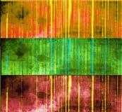 Striped grunge banner set