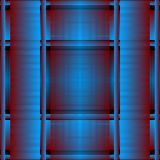 Striped grunge 3d vector seamless pattern. Textured plaid blue background. Tartan repeat grungy backdrop. Vertical and horizontal. Stripes, borders, lines royalty free illustration