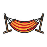 Striped hammock for relax Royalty Free Stock Photography
