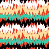 Striped hand drawn pattern with zigzag lines Royalty Free Stock Photos