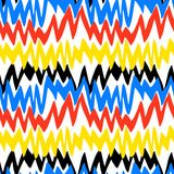 Striped hand drawn pattern with zigzag lines Stock Photography
